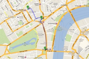 Mapa Plazas Londres