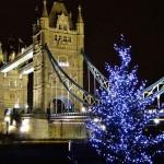 Luces de Navidad Tower Bridge (Londres).