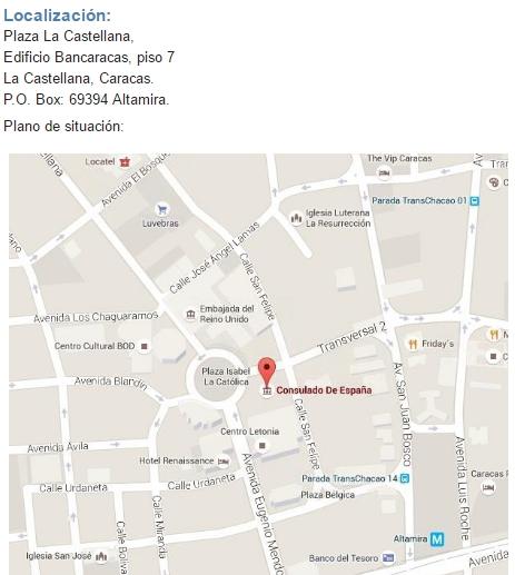 Consulado de espa a en caracas consejos tiles para viajar - Consulado argentino en madrid telefono ...