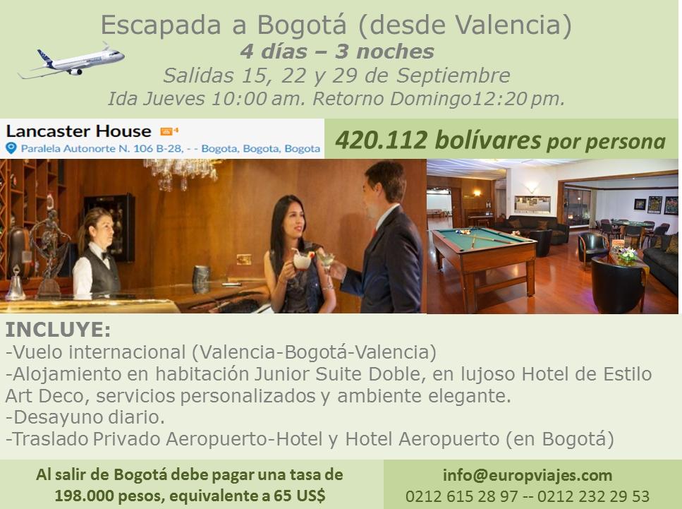 Escapada a Bogotá desde Valencia